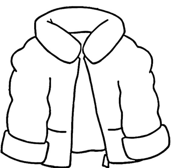 winter clothes coloring pages activities - photo#5