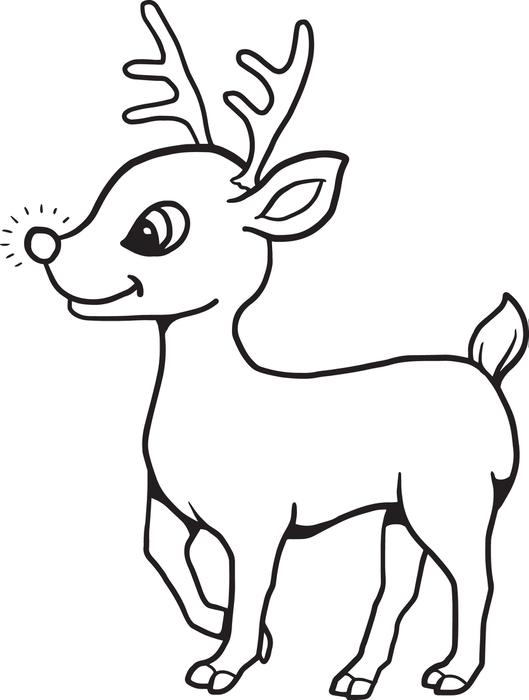 Free Printable Reindeer Coloring Pages For Kids with ...