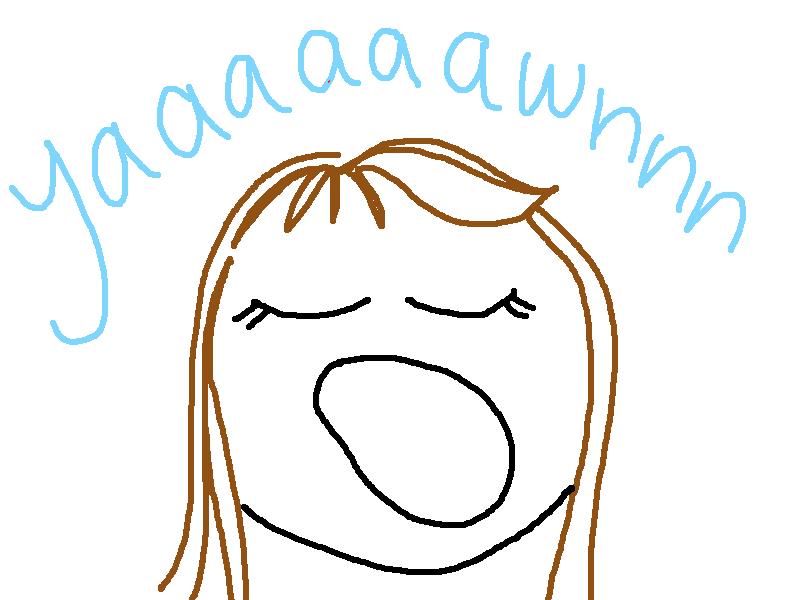 yawn clipart free - photo #8