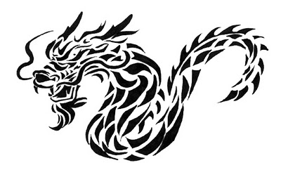 black and white dragon tattoos clipart best