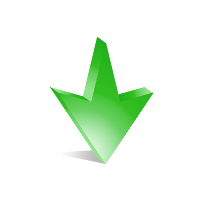 Green Arrow Icon Arrow Down 14 Green Arrow