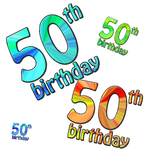 Happy 50th Birthday Clip Art Picture Papers Pictures to pin on ...