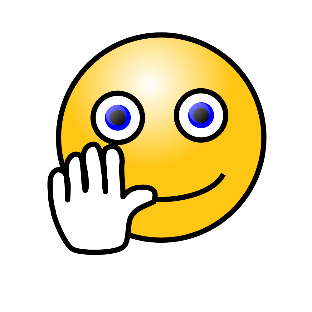 Smiley face waving goodbye clip art clipart best