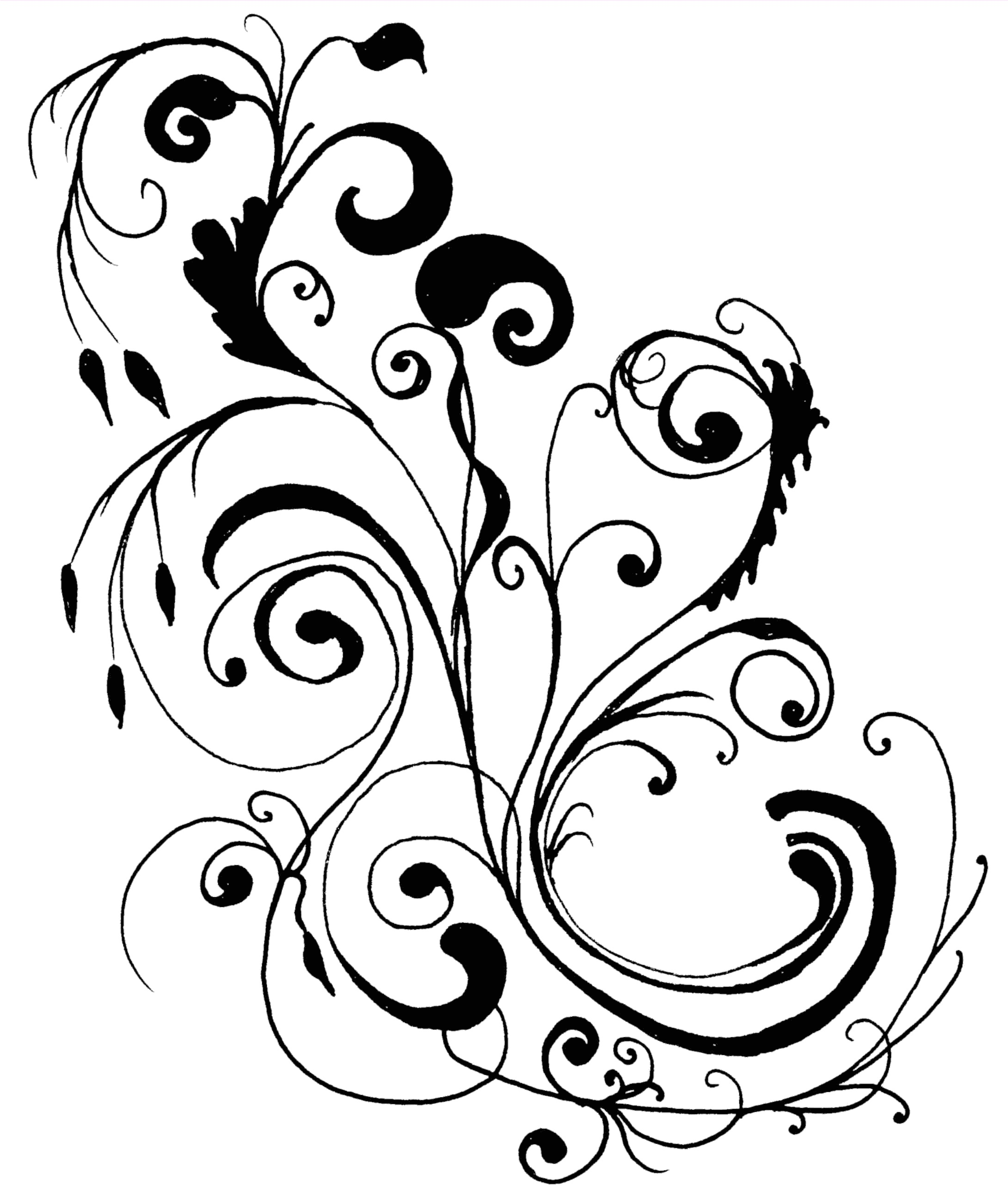 Line Art Border Designs : Line art designs clipart best