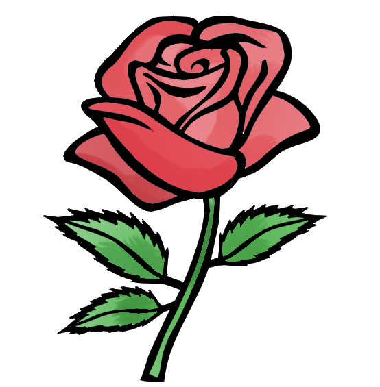 animated clip art roses - photo #16
