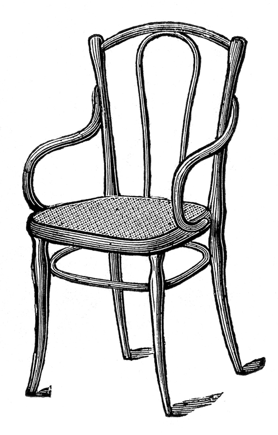 Bentwood chair vintage - Antique Images Caned Bentwood Chairs The Graphics Fairy Clipart