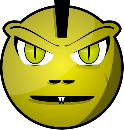 Scary Face Clipart Scary Face Vector Free