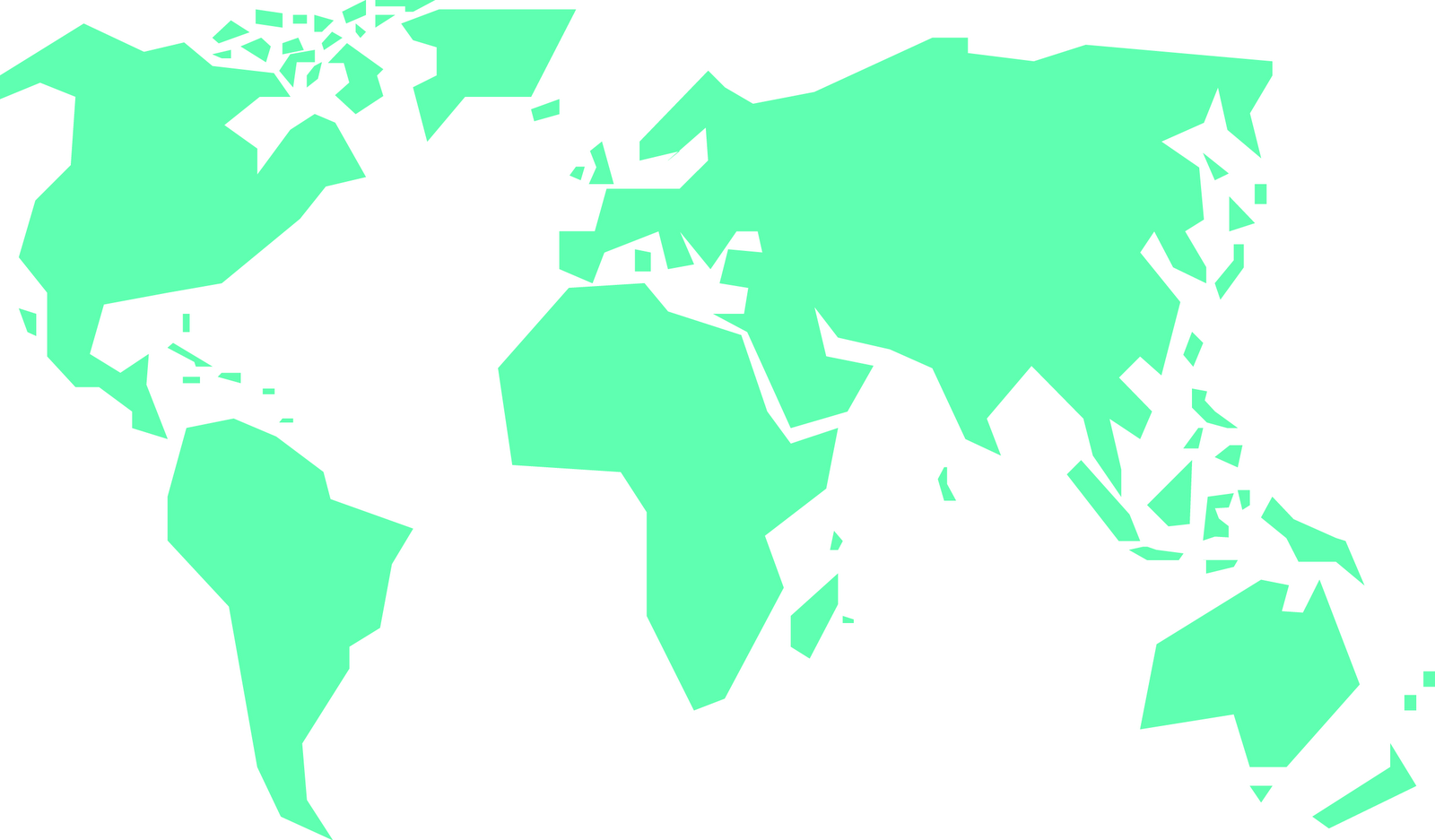 Simple World Map ClipArt Best