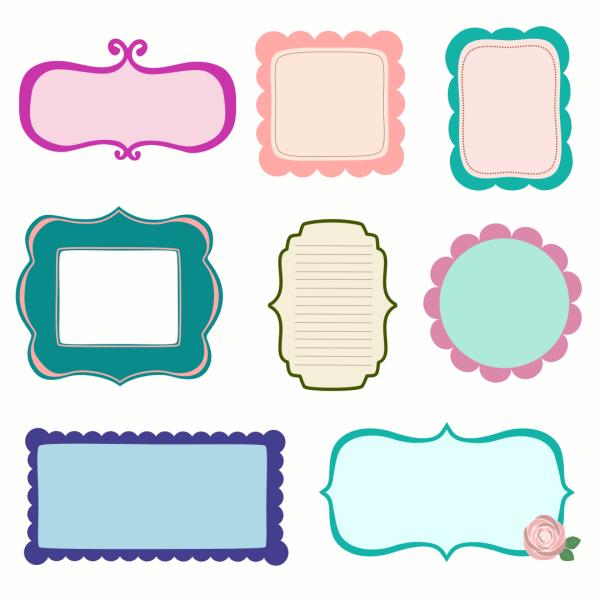 Free Vector Scrapbook Frames Labels & Journal Tags ...