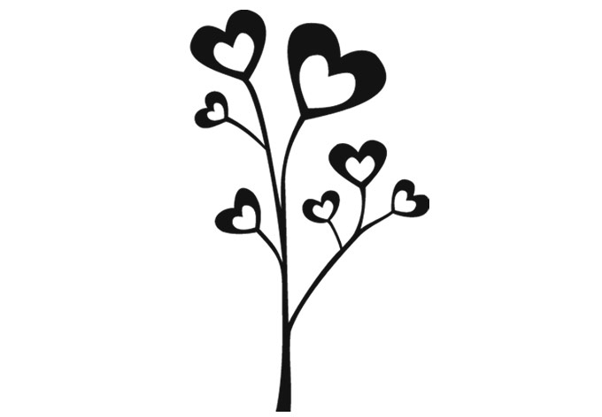 decor heart clipart wall tree decal cliparts lovely clipartbest clip library collection