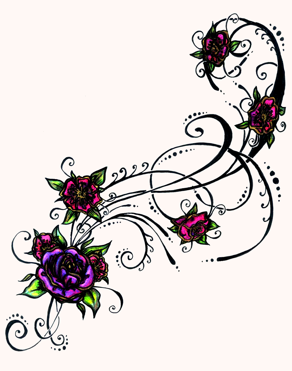 flower and heart tattoos clipart best. Black Bedroom Furniture Sets. Home Design Ideas
