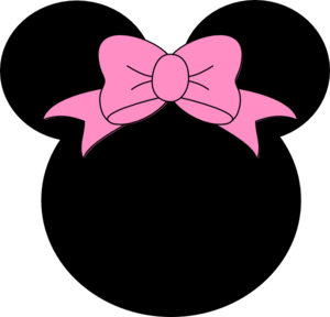 Pink Bow Minnie Mouse Clip Art - vector clip art ...