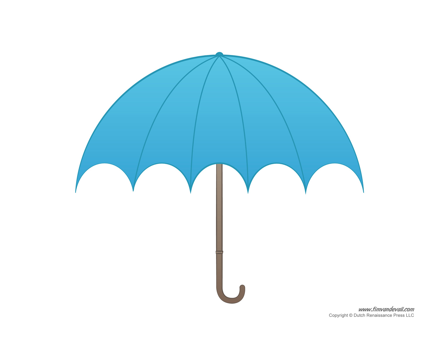 Blank Umbrella Raindrops Template Clipart Best