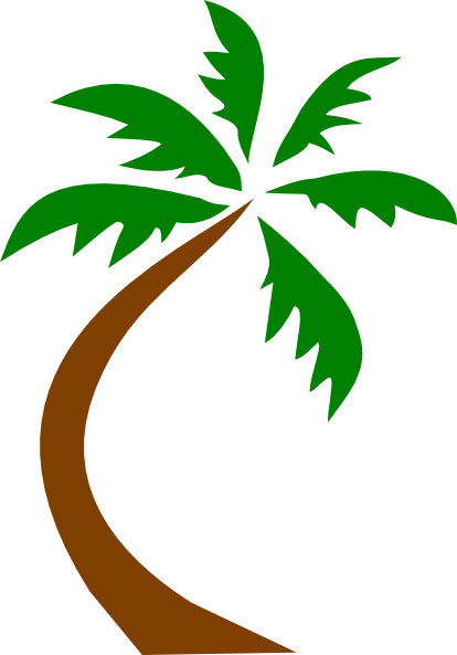 Palm tree clipart outline