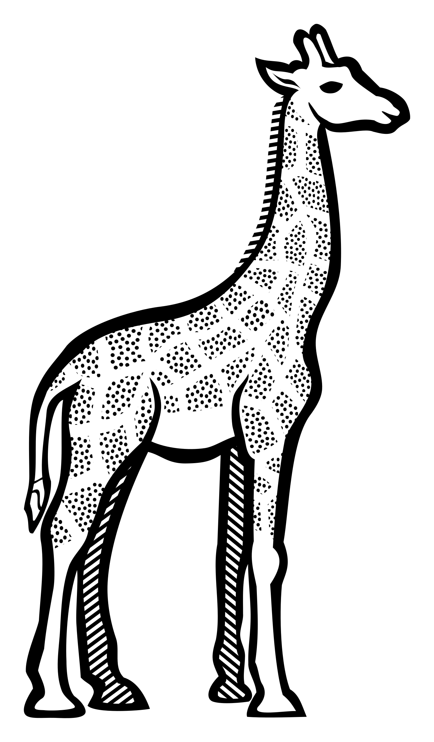 Line Art Giraffe : Giraffe line art clipart best