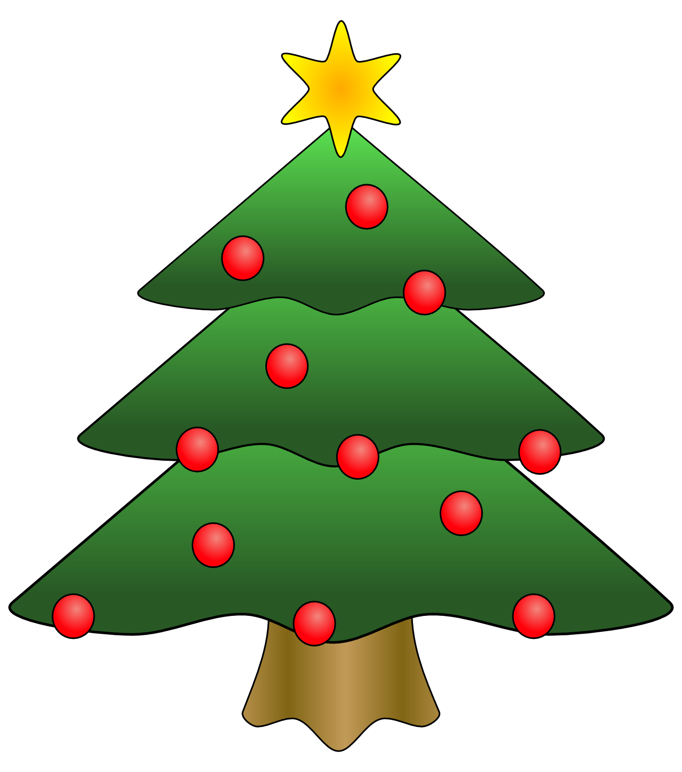 Is A Christmas Tree A Religious Symbol: Evergreen Trees Clipart