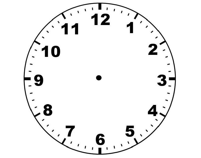 Clock Face With No Hands - ClipArt Best