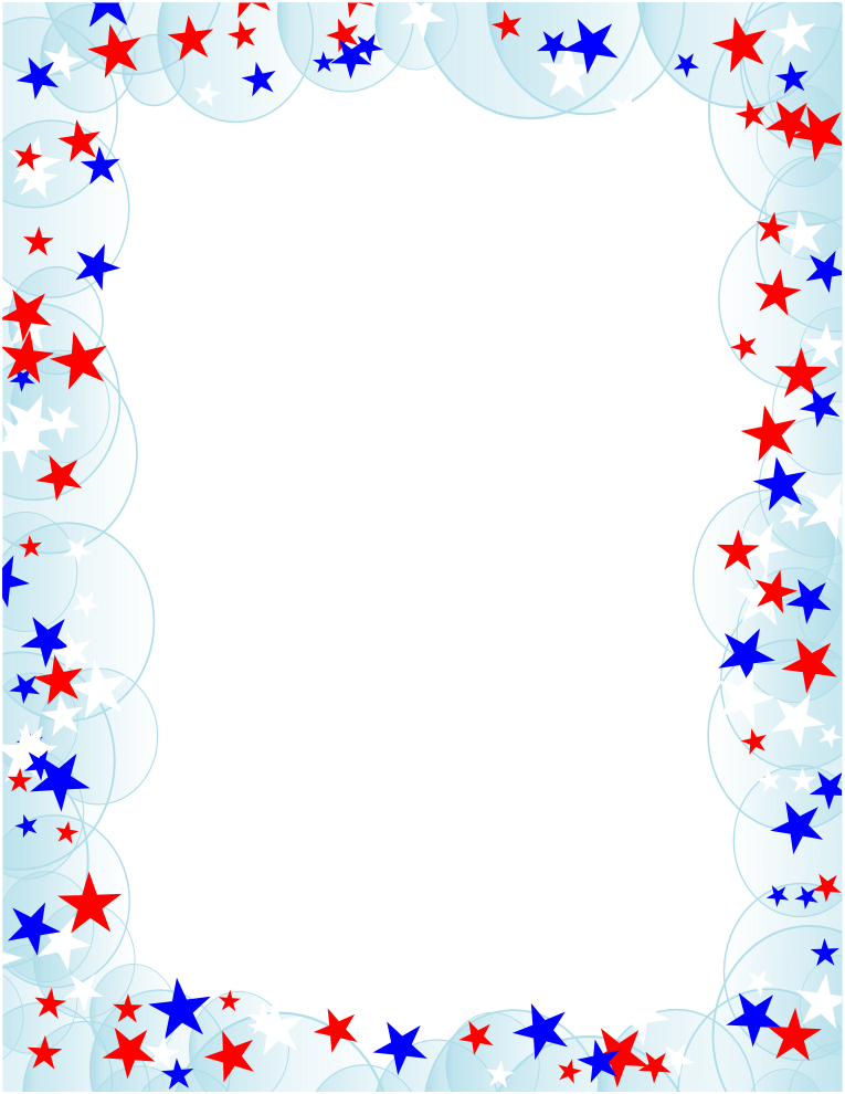 Blue and red patriotic stars and stripes page border frame design - Gallery For Gt Gold Stars Borders And Frames