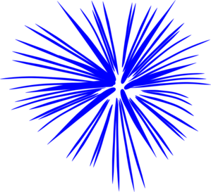 Blue Fireworks clip art - vector clip art online, royalty free ...