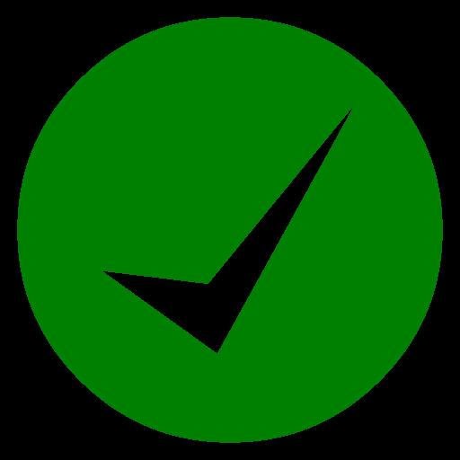 Green Pen Marking Green Check Mark 11 Icon Free