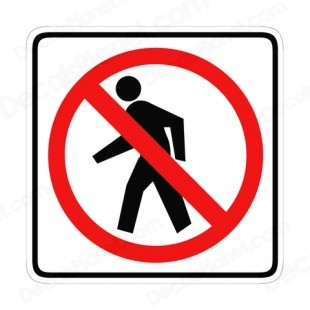 No Walking Clipart