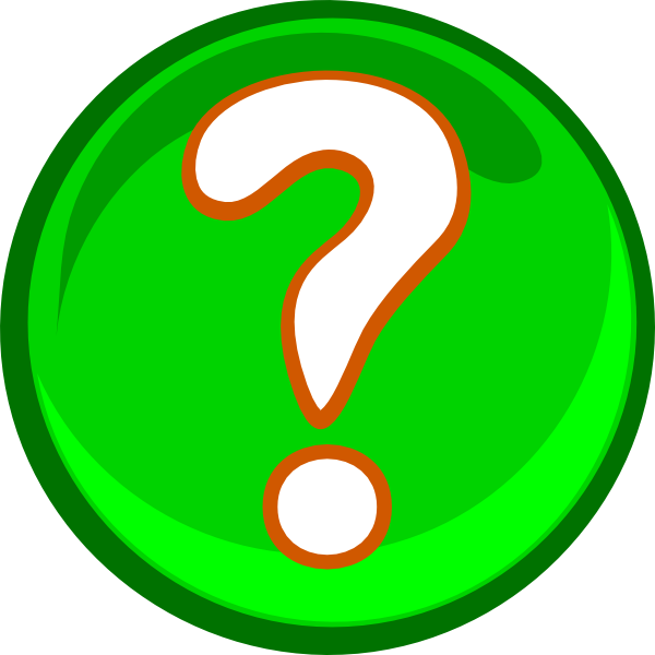Green Question Mark clip art - vector clip art online, royalty ...