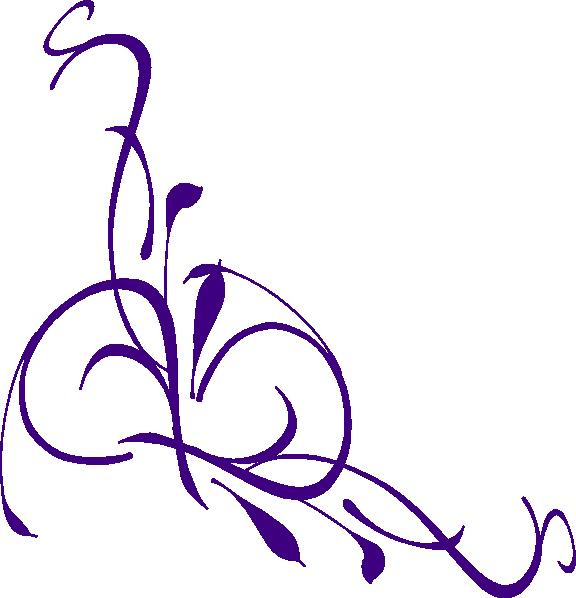 Purple Floral Swirl clip art - vector clip art online, royalty ...