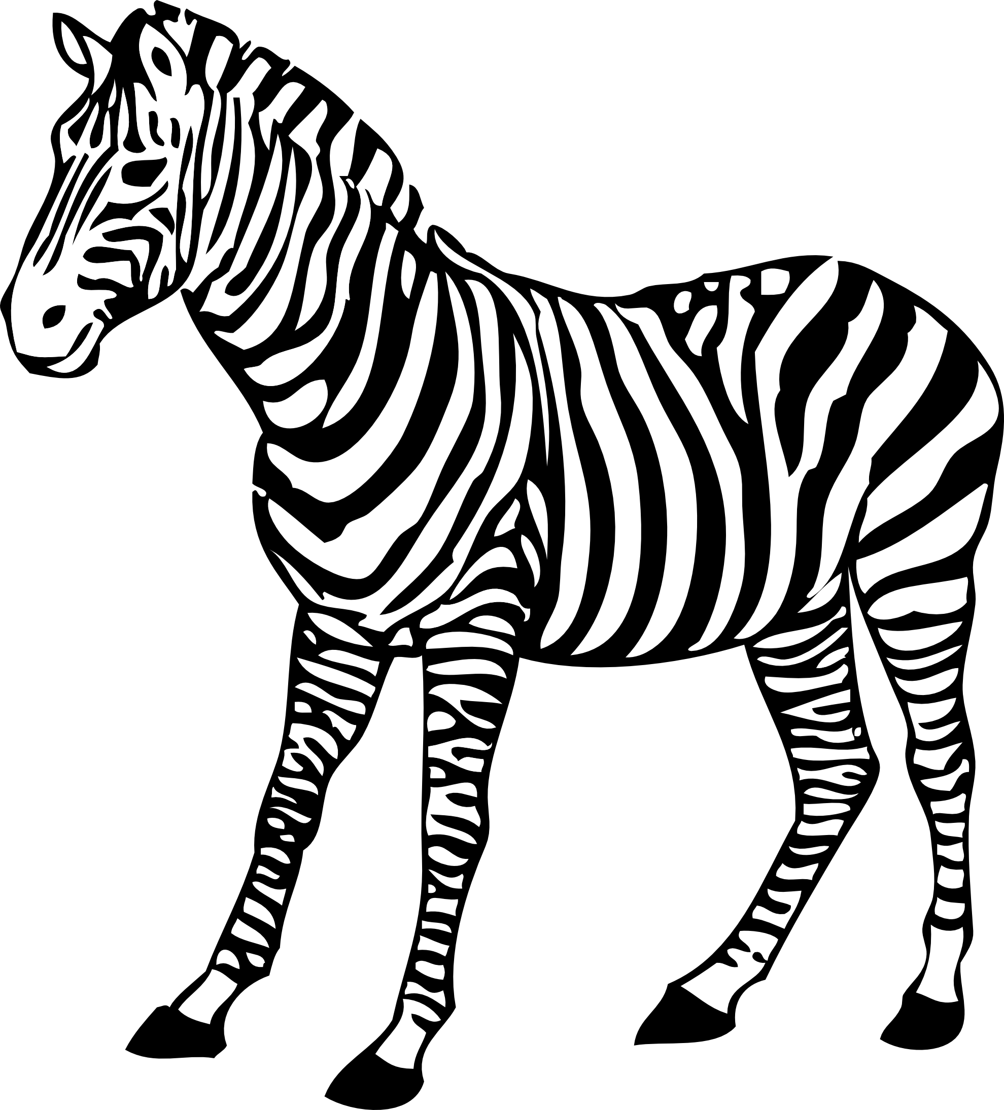 zebra black white line art coloring book colouring SVGZebra Head Coloring Pages