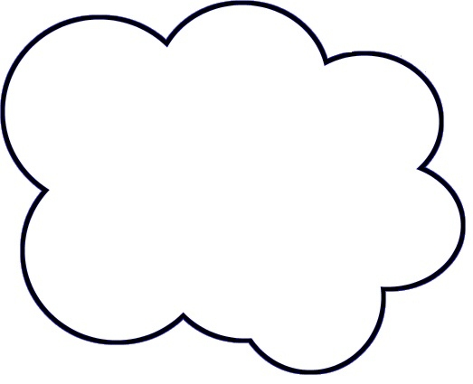 Printable Clouds Templates Templates of clouds