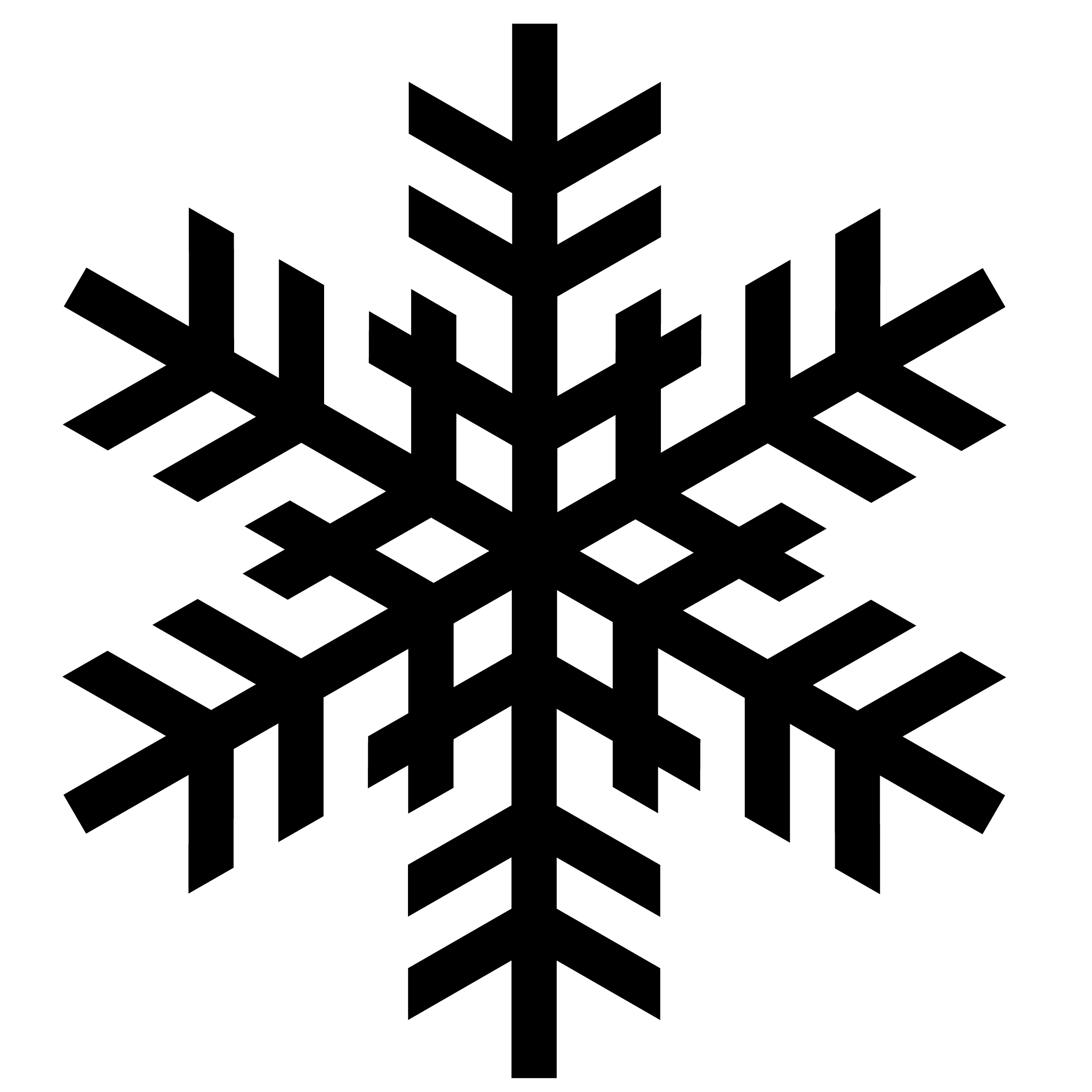 Snowflake Silhouette - ClipArt Best