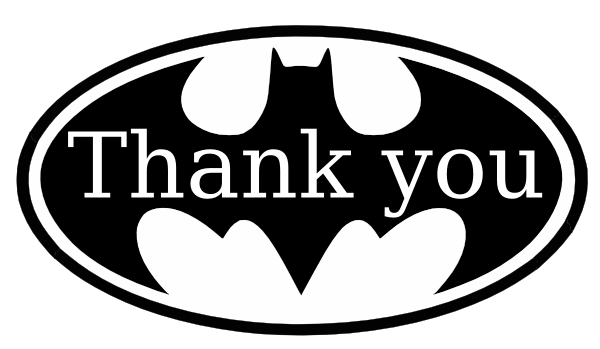 Thank You Batman 2 clip art - vector clip art online, royalty free ...