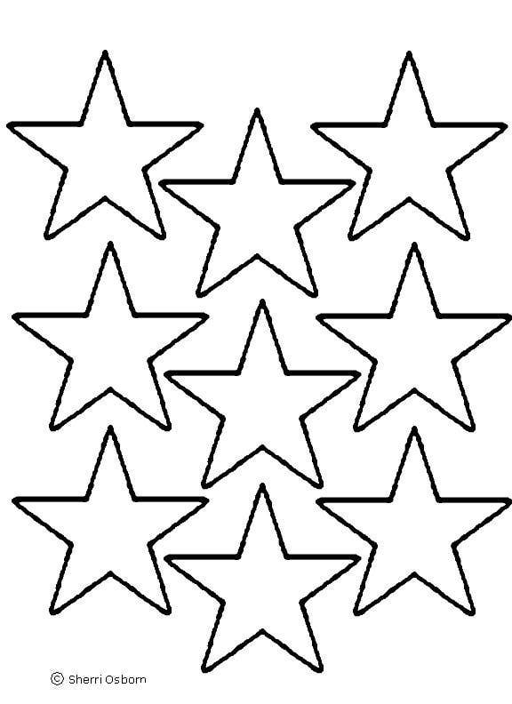 Christmas Star Template Star Template Printout
