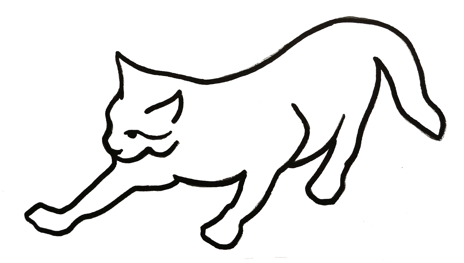 Line Drawing Of A Cat Face : Cat line drawing clipart best