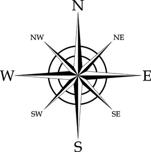 how to draw a 16 point compass rose