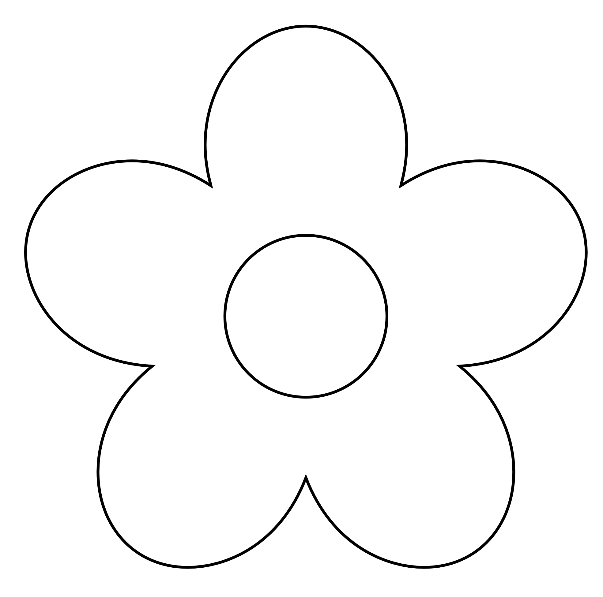Black And White Flowers Clipart - ClipArt Best