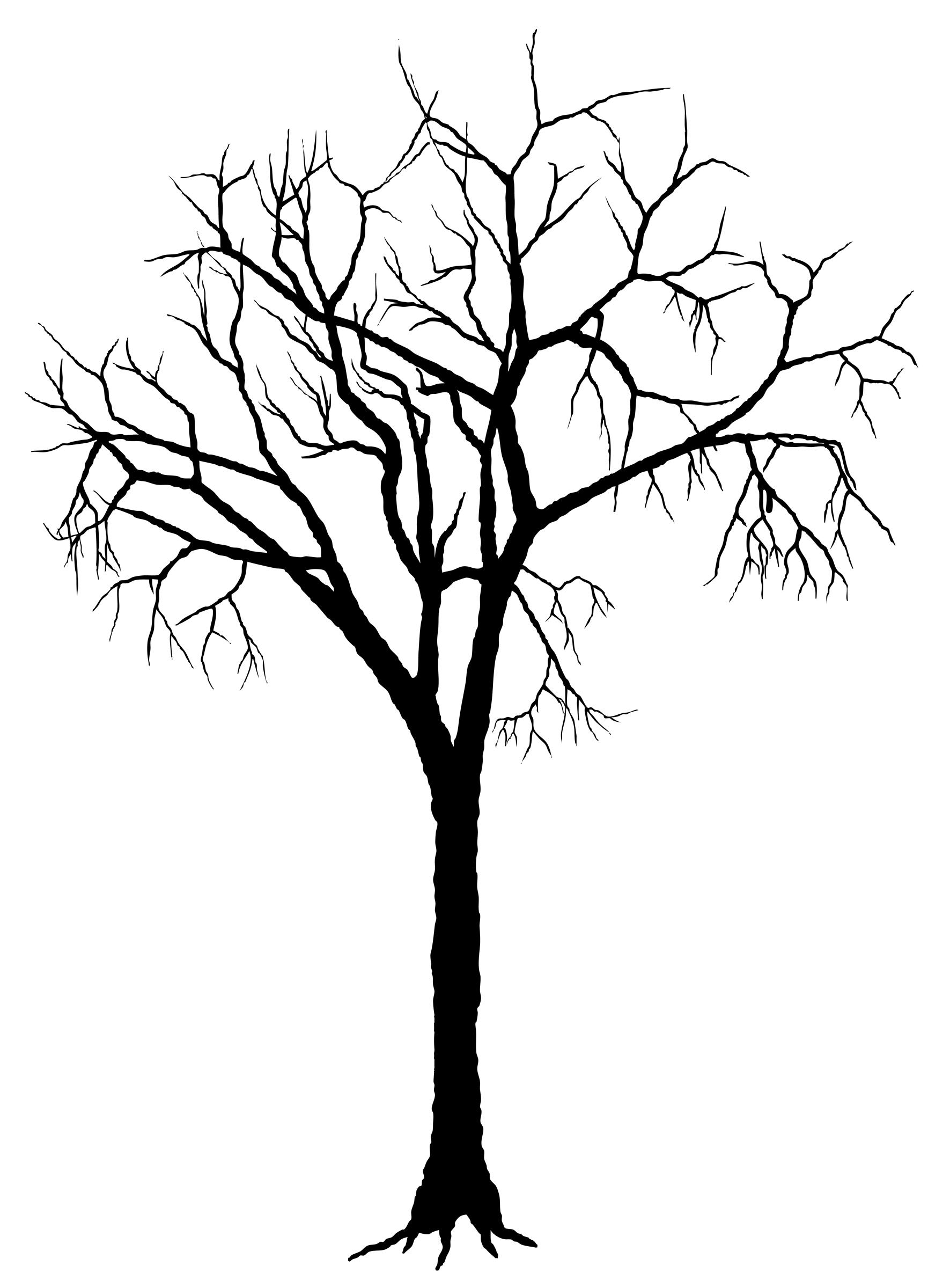 clip art tree silhouette - photo #8