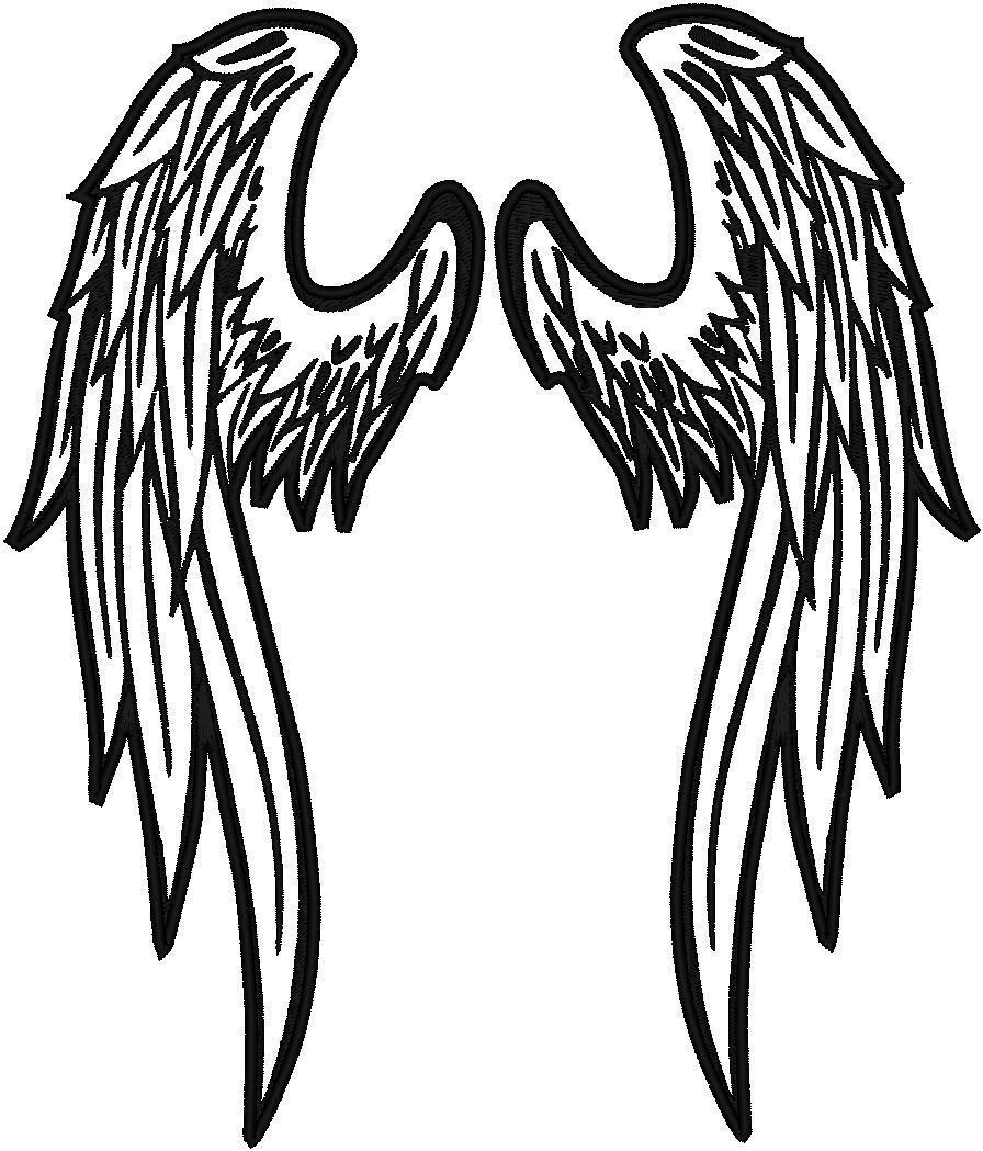 angel wing logo clipart best. Black Bedroom Furniture Sets. Home Design Ideas