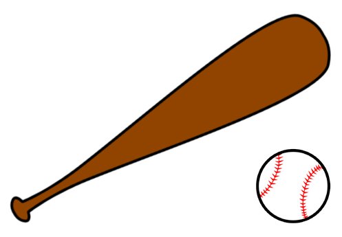 Crossed Baseball Bats Clipart - ClipArt Best
