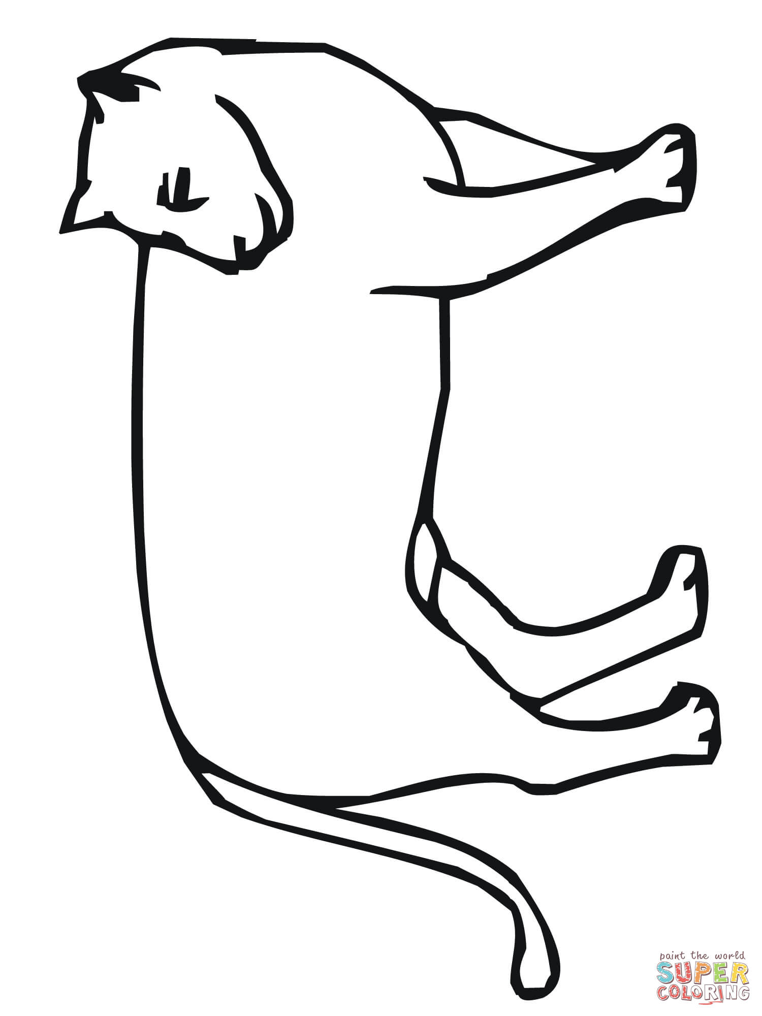 Cougar paw color page clipart best for Cougar coloring pages