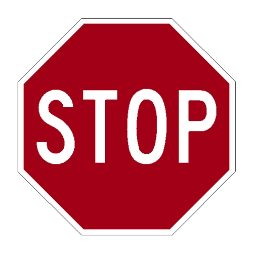 A Small Stop Sign on Aluminum Can Clip Art