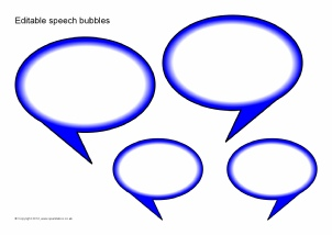 Speech bubbles templates printables clipart best for Photo booth speech bubble template