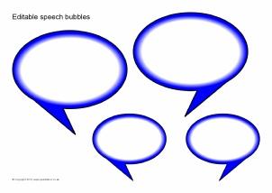 Speech bubbles templates printables clipart best for Photo booth speech bubble template