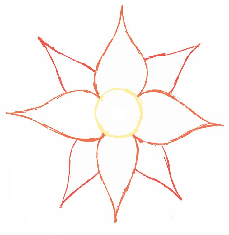 Simple flower drawing clipart best for Simple flowers for drawing