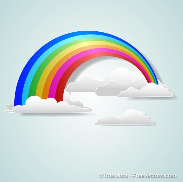 Rainbow Cloud Vector - ClipArt Best