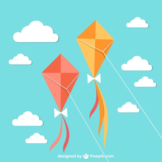 Flying kites with sky Vector | Free Download