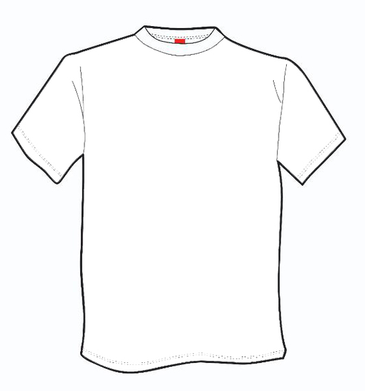 T shirt for coloring clipart best for Tshirt coloring page
