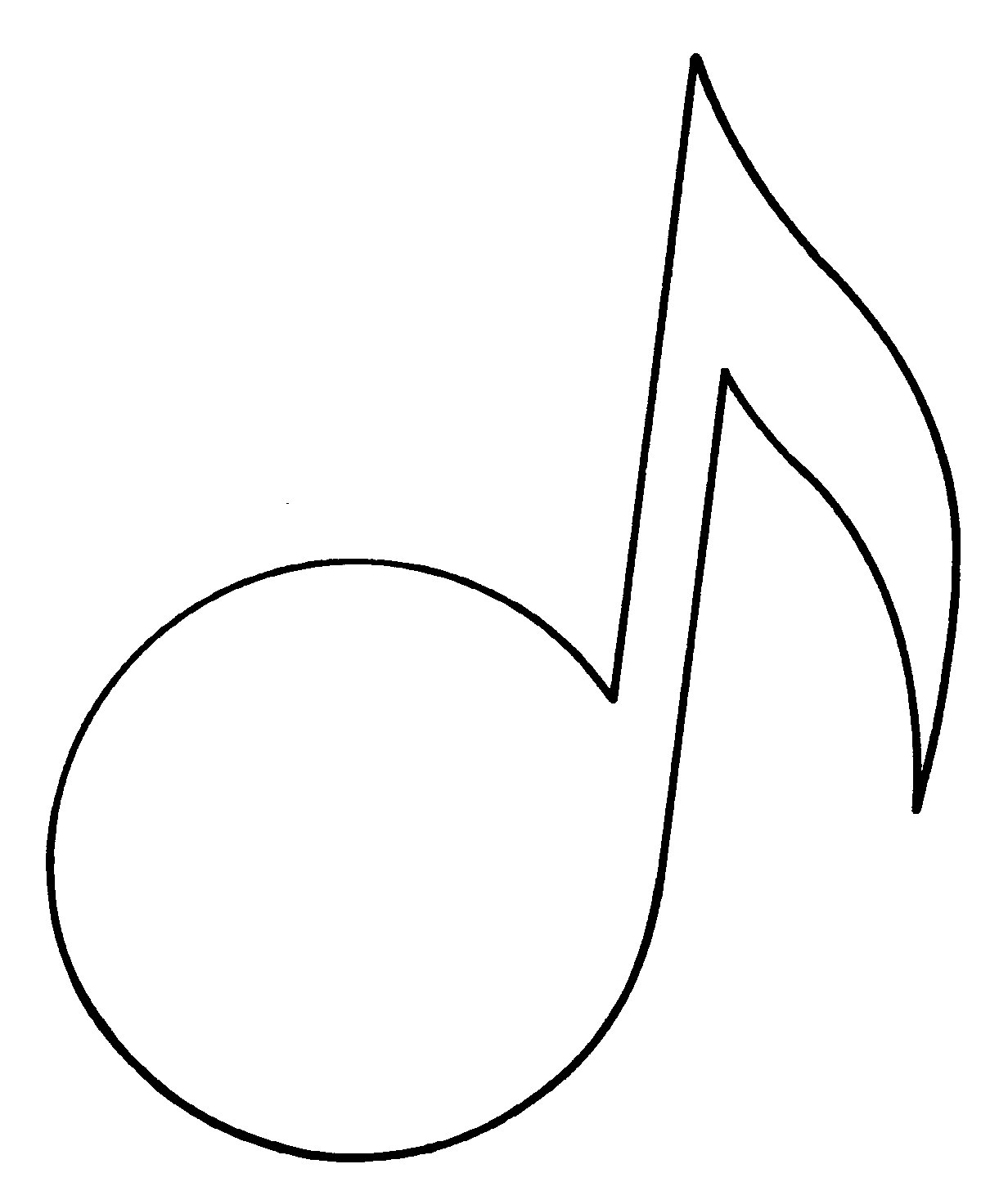 This is a photo of Lucrative Printable Music Note