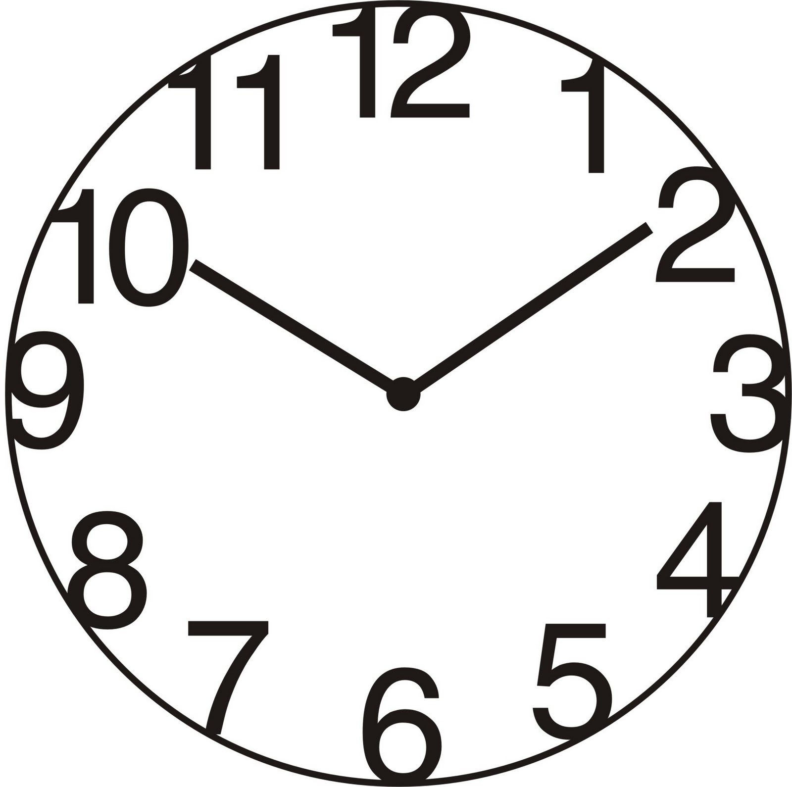 Line Drawing Clock Face : Outline clock clipart best