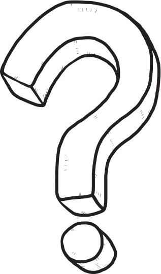 D Line Drawings Questions : Question mark outline clipart best