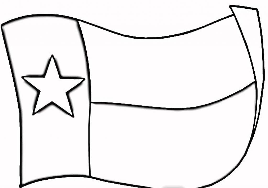 Flag Black And White Texas Clipart